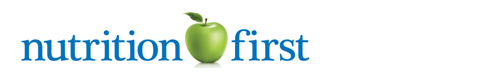 Nutrition First Logo with a green apple